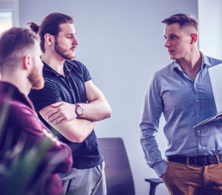 Software development company team
