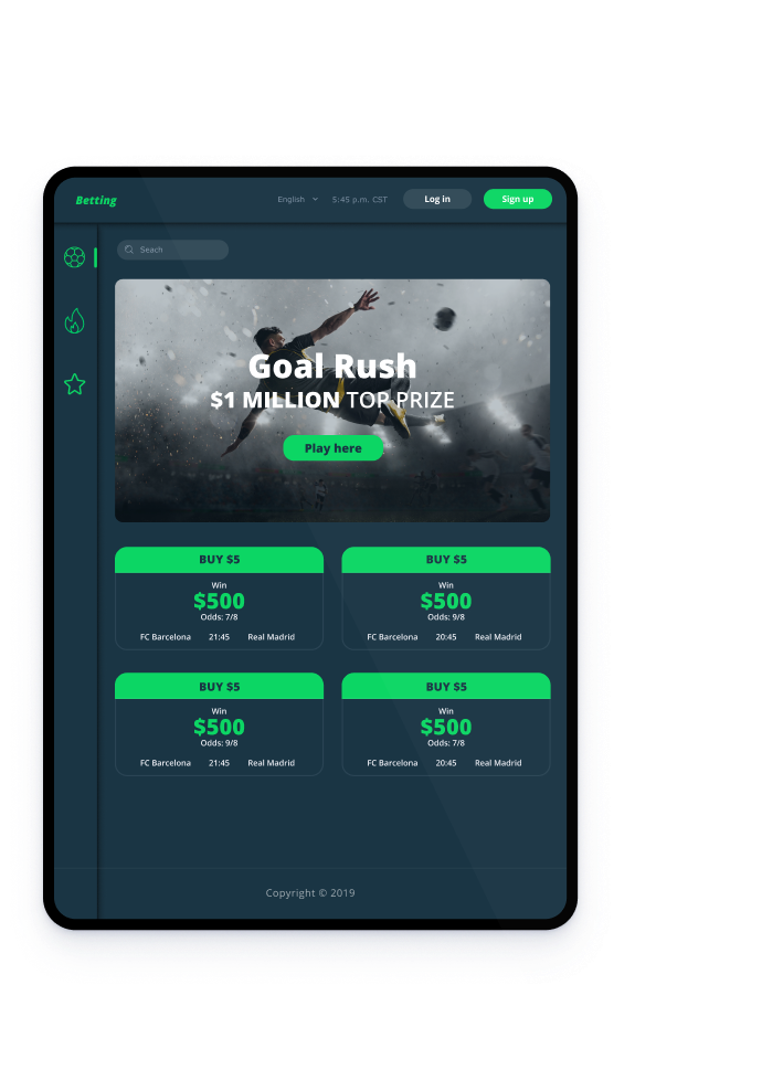 fixed pool betting system dashboard