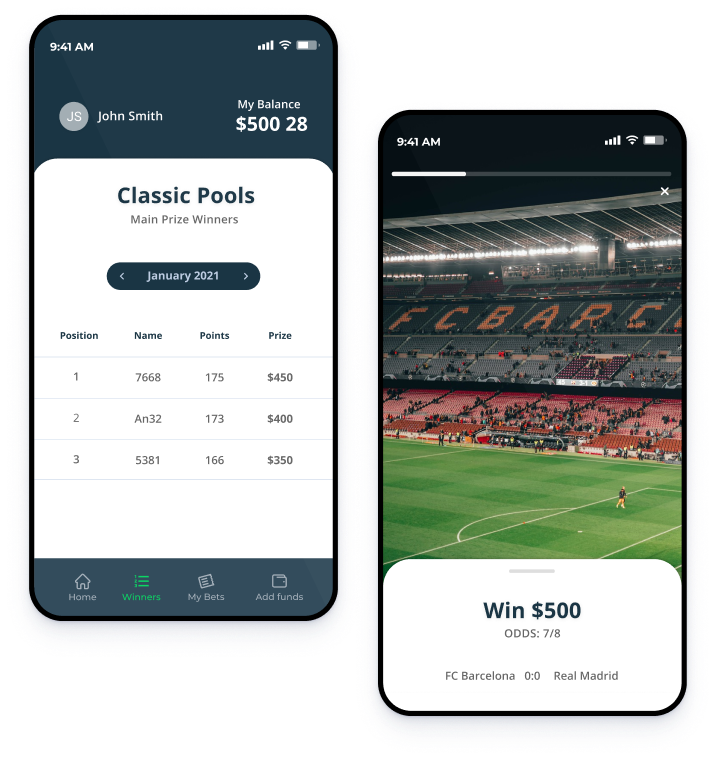 fixed pool betting system mobile view