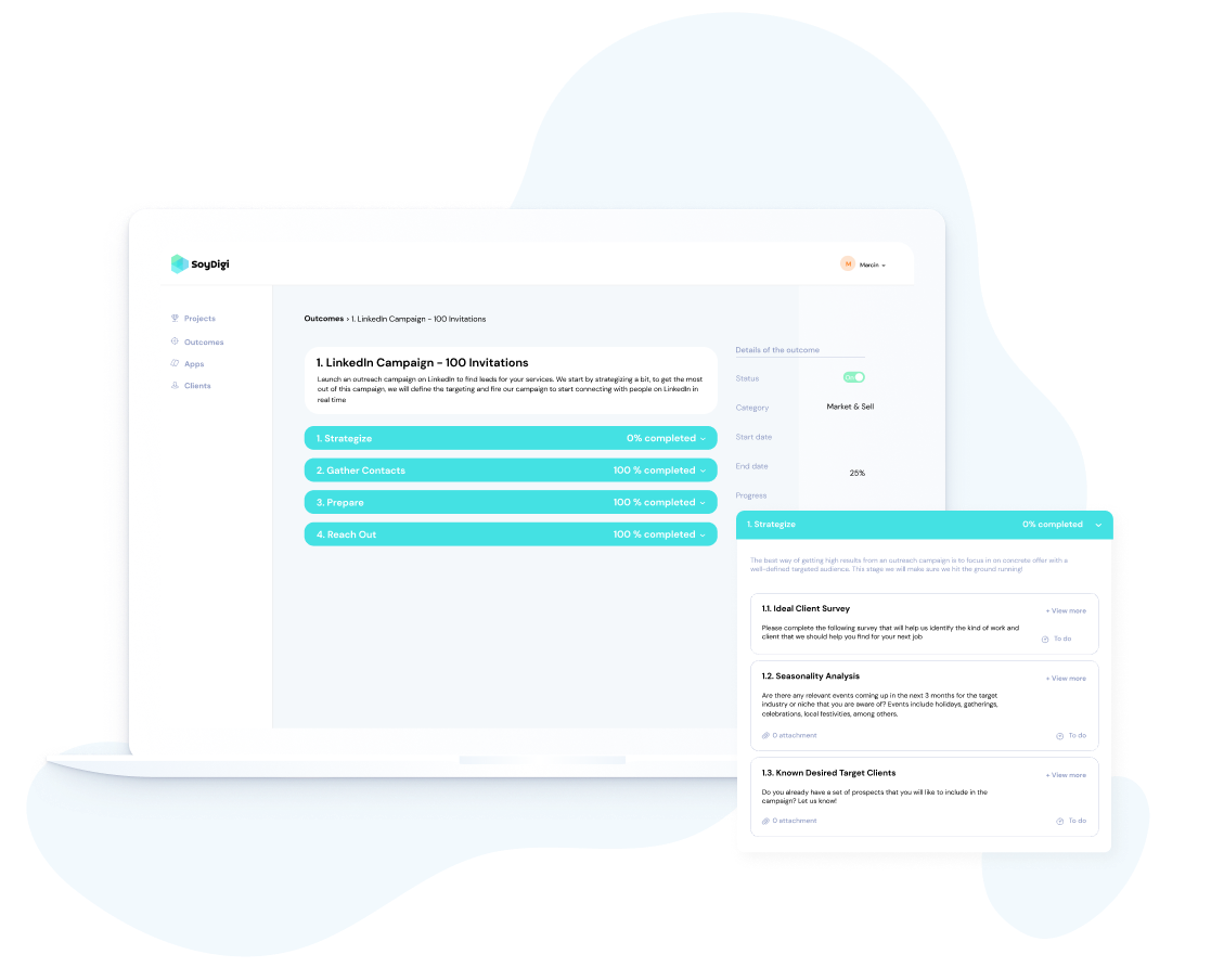 web app MVP dashboard